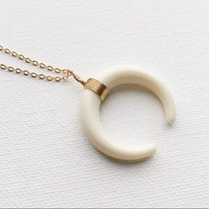 Brandy Melville Jewelry - elia double horn necklace